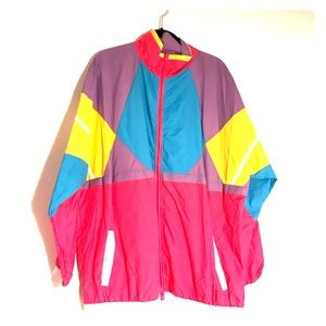 Jackets & Blazers - Retro style 80s Full Zip Windbreaker
